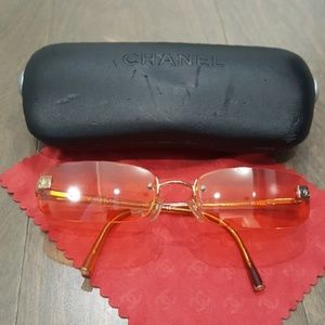 100% Authentic!! CHANEL rimless sunglasses